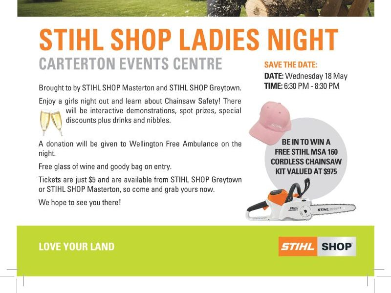 STIHL SHOP Ladies Night 18th May 2016